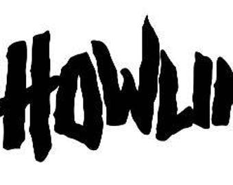 The Howling Halloween Horror Vinyl Car Decal Bumper Window Sticker Any Color Multiple Sizes