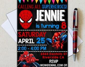 Spiderman Invitation/ Spiderman Invite/ Spiderman Birthday/ Spiderman Party/ Spiderman Cards/ Spiderman Invite/ Spiderman Birthday Party