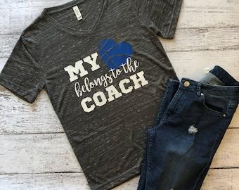 My Heart Belongs to the Coach T-Shirt / Coach Wife Shirt / Coach Wife Shirt / Basketball Coach Wife Shirt / Basketball Wife Shirt / Gift