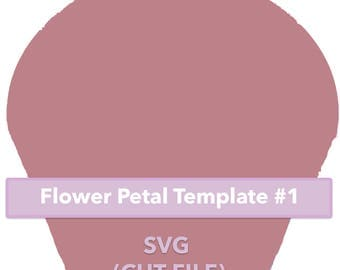 Paper Flower Template #1 SVG file