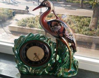 Old ceramique clock hand painted