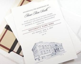 Florida State University Graduation Announcement, Invitations, FSU, Florida, University, College, Tech, Graduation Cards (set of 25)