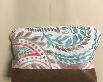 Sewing Pattern 6x9 Cosmetic Bag w Boxed Bottom