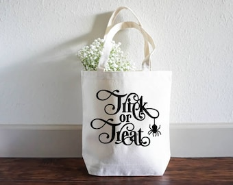 Halloween Spider Bag - Halloween Trick or Treat Bag - Halloween Gift Bag - Halloween Tote Bag - Halloween Treat Bag - Large Shopping Bag