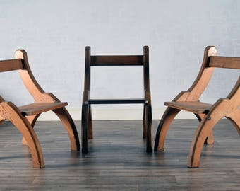 Gothic Pine kitchen chairs