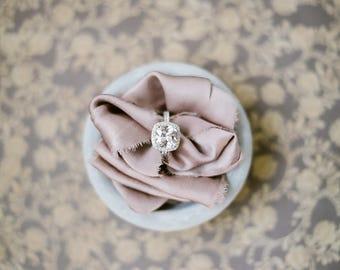 Ivory silk ribbon | wedding ribbon | invitation ribbon | wedding bouquet