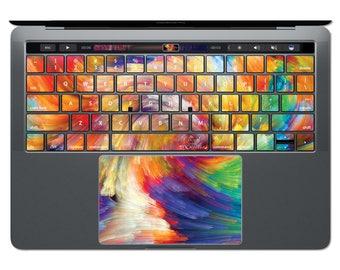 MacBook Keyboard Rainbow MacBook Decal MacBook Keypad Stickers Abstract Art Pattern Key Decals MacBook Skin MacBook Air Paint Spectrum KP117