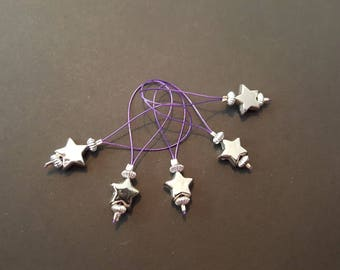 Shooting Star Snag Free Stitch Markers