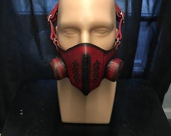 Diesel Punk, Cyberpunk, Steampunk Post Apocalyptic Half Mask