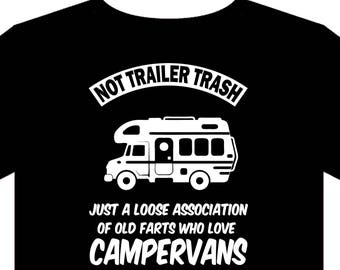Motor home  T shirt (Small - 5XL) Campervan camping Swift