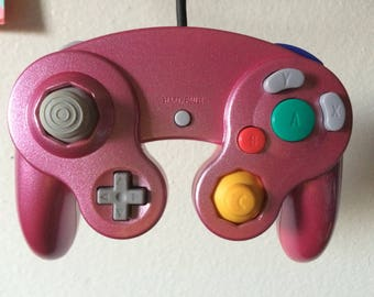 Custom Magenta and Silver Gamecube Controller