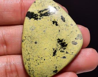 Amazing 20 % OFF Sale Natural Chita Jasper Gemstone Cabochan Fancy Shape 63.60 Cts.. Size Is 44X33X7 Code DN 64