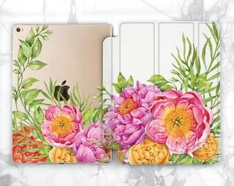 iPad floral case flower iPad case flowers ipad air 2 smart ipad 9 7 case 2017 ipad pro case 12 9 ipad hard case iPad 2 case iPad mini case