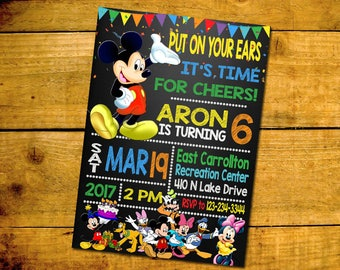 DIGITAL FILE - Mickey Mouse Invitation - Mickey Mouse Birthday Invitation - Mickey Mouse Birthday Party - Mickey Mouse Printables