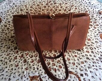 Vintage English Snakeskin Handbag