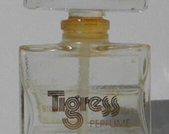 Vintage TIGRESS Perfume Bottle (Empty) by Faberge Inc.