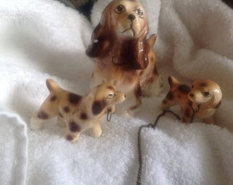 Vintage porcelain dogs. Relco hand paint