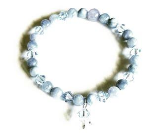 Blue Semi Precious Stone Bracelet
