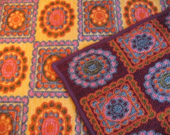 Retro dralon plaid, blanket 70's