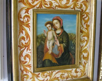 PAINTED MADONNA and child