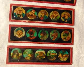 Antique Magic Lantern / Optical Lantern Slides