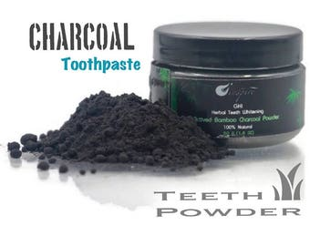 Herbal Teeth Whitening Active Bamboo Charcoal Powder. 100% Natural and Herbal Teeth Whitening (1.6 oz)