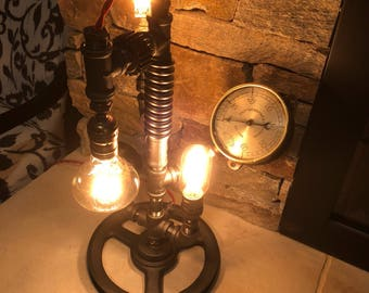 Gold Car SPECIAL EDITION - steampunk industrial pipe lamp