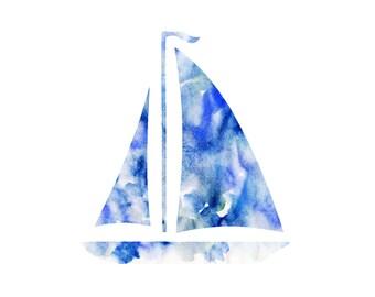 Watercolor Sailboat Print