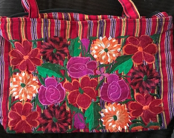Ebroider flower hand purse