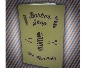 Artisan notebook 7 Knots Barber Pole line Barber Shop
