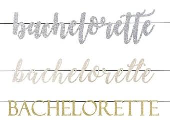 Bachelorette Banner | Bachelorette Decor | Bachelorette Decorations | Glitter Banner | Rose Gold Bachelorette Banner  | Gold Glitter