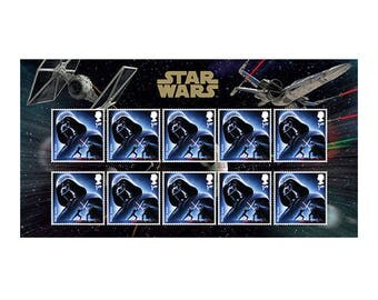 STAR WARS™ 2015 Darth Vader 10 Stamp Set~Mint From the UK~