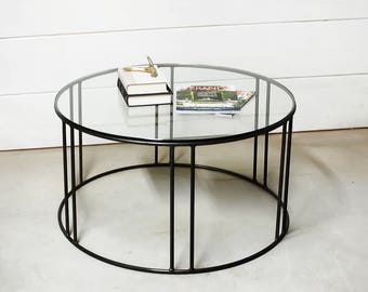 Round Glass Coffee Table, Coffee Table, Coffee Table Glass, Living Room  Furniture, Part 96