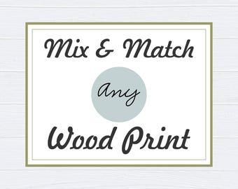 Mix and Match Nursery Decor - Nursery Wall Art - Baby Shower Decor - Baby Nursery Decor - Nursery Wall Art - Neutral Nursery Decor