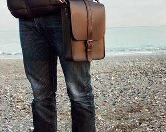 Men leather bag,messenger bag, crossover bag, crossbody bag