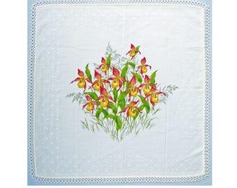 Hankie handkerchief white Ladys shoes flower bunch lace VINTAGE