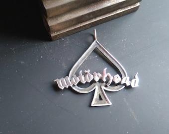 Motorhead  Silver Pendant  -  Ace of Spades