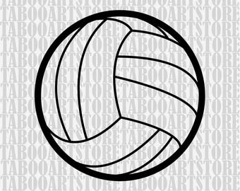 Volleyball Svg, Volleyball  Ball, Volleyball  Svg Files, Silhouette Cut Files, Cricut Cut Files SVG,  Sports Svg, Volleyball  clipart