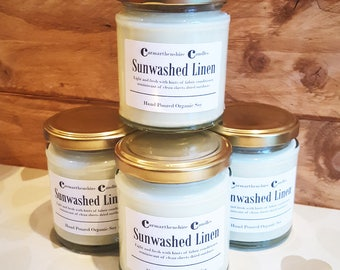 Sunwashed Linen Organic Soy Candle