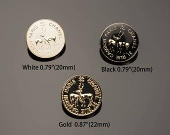 "Deer Buttons Metal Custom Bead Luxury OverCoat Sewing DIY 0.79""/0.87""(20/22mm)- c62"