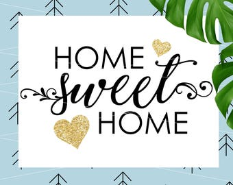 Home Sweet Home SVG Home Cutting File svg file for Cricut Silhouette cut file svg dxf eps png lfvs