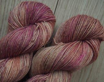 Rose Powder Glitz'n Glitter - hand dyed yarn