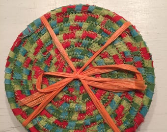 Lovely orange and green coasters for your home