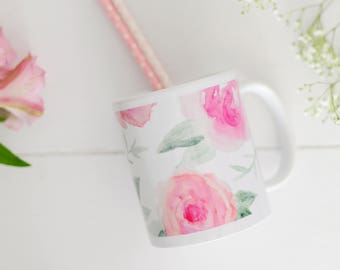 Floral Watercolor Coffee Mug | Coffee Mug | Mom Mug | Tea Cup | Flowers | Cute Coffee Mugs | Watercolor