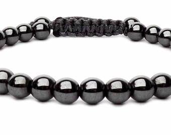 The Hematite shamballa bracelet