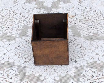 Real Wood Wedding -  Wedding Small Centerpiece Box Vase