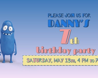 Animated video invitation for a birthday party