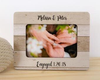 Engagement Gift Frame Proposal Frame Engaged Personalized Custom Picture Frame Engaged!