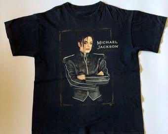 """Vintage 90s Michael Jackson """" Dangerous World Tour 92-93"""" T-shirt"""