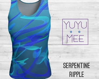 SERPENTINE RIPPLE Women's Loose or Fitted Tank Top
